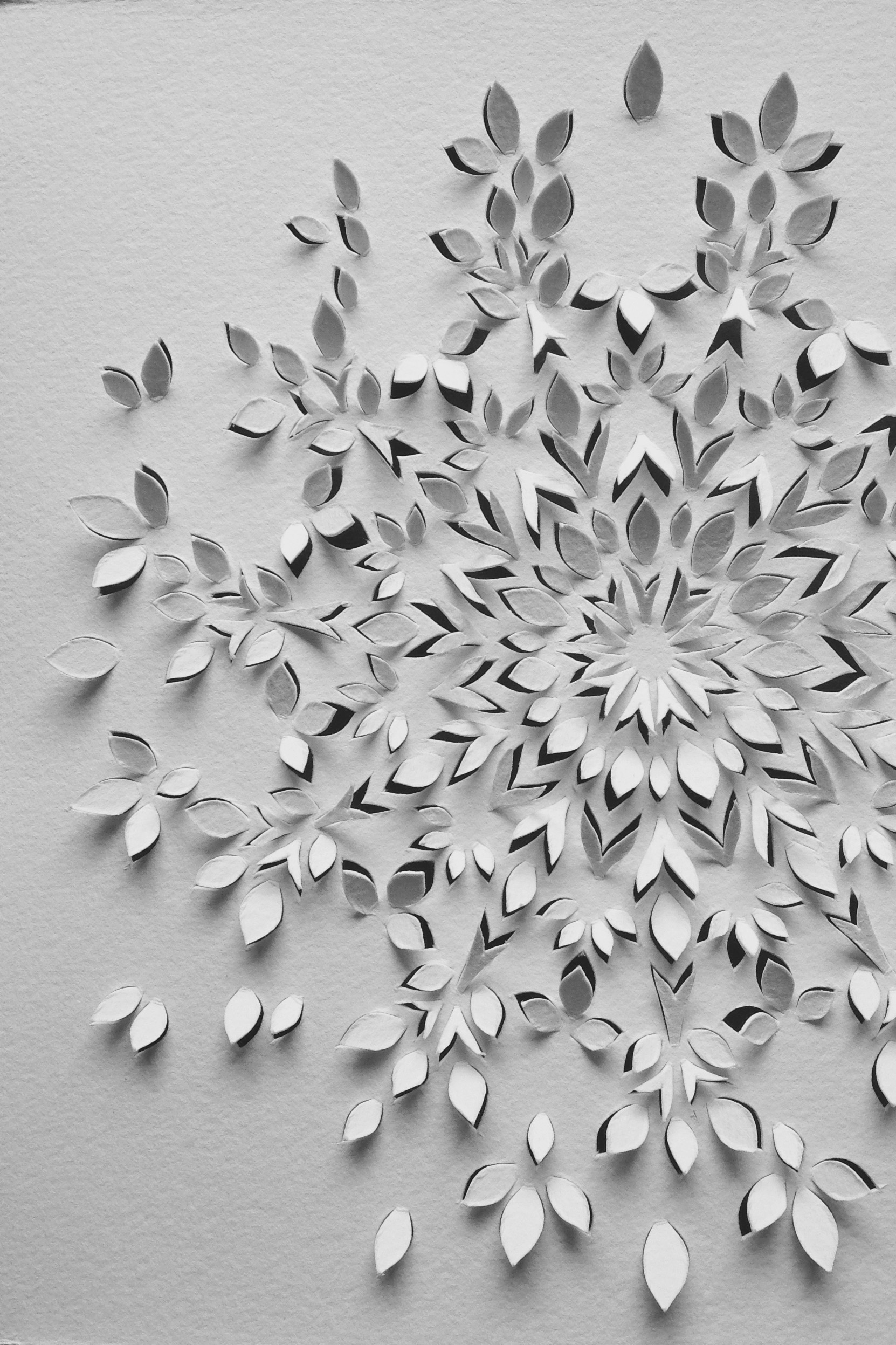 caleidoscope, mandala, paper art cut