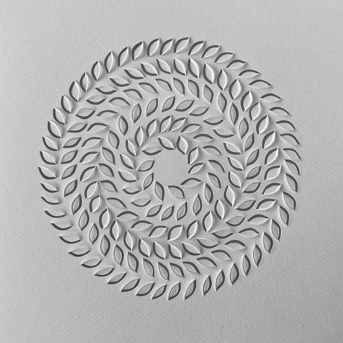 Papierobjekt 'haiku circle I' 俳句