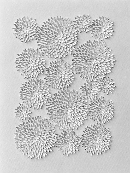 Papierobjekt 'chrysanthemum III'