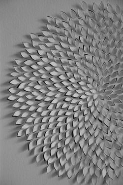 sunflower floral paper art hand cut