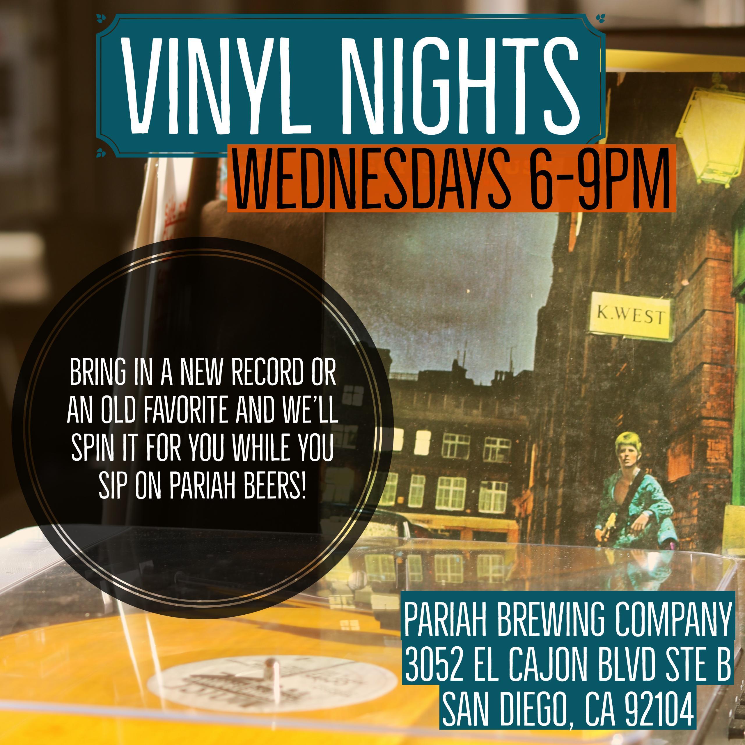 Vinyl Night Wednesdays