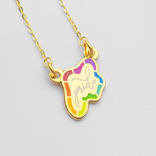 Pride Bar Necklace (Glitter)
