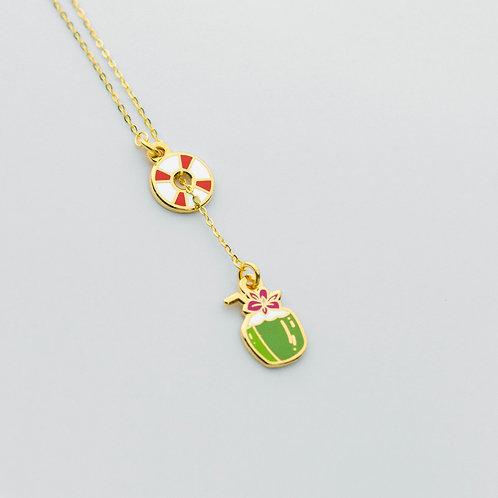Beach Lariat Necklace
