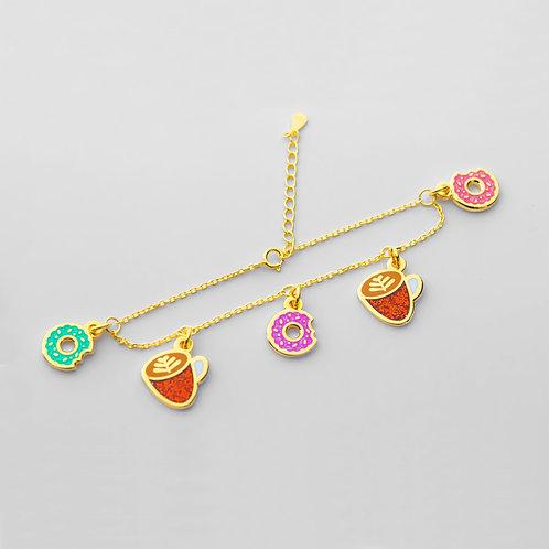 Donut Bracelet (5 Charms)