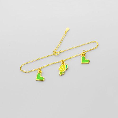 Love x Roses Bracelet (3 Charms)