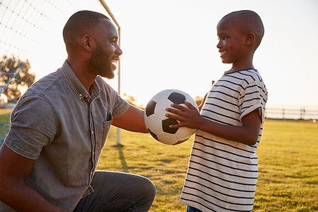 Adult mentoring child