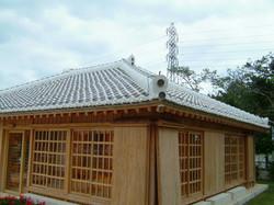 県産黒瓦 漆喰施工