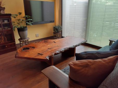 欅(けやき)ソファーテーブル