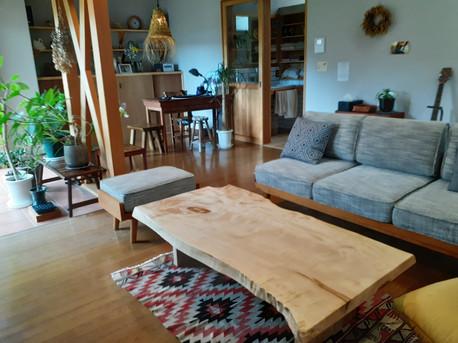 栃(とち)ソファーテーブル