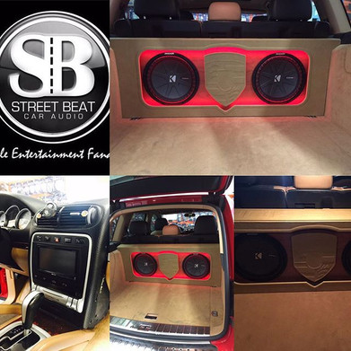 Porsche Cayenne custom built system