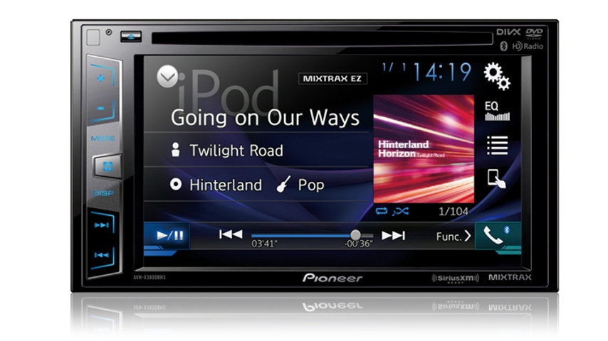 Spotify for iPhone® and Android™ FLAC Audio Playback pioneer avh-x3800bhs