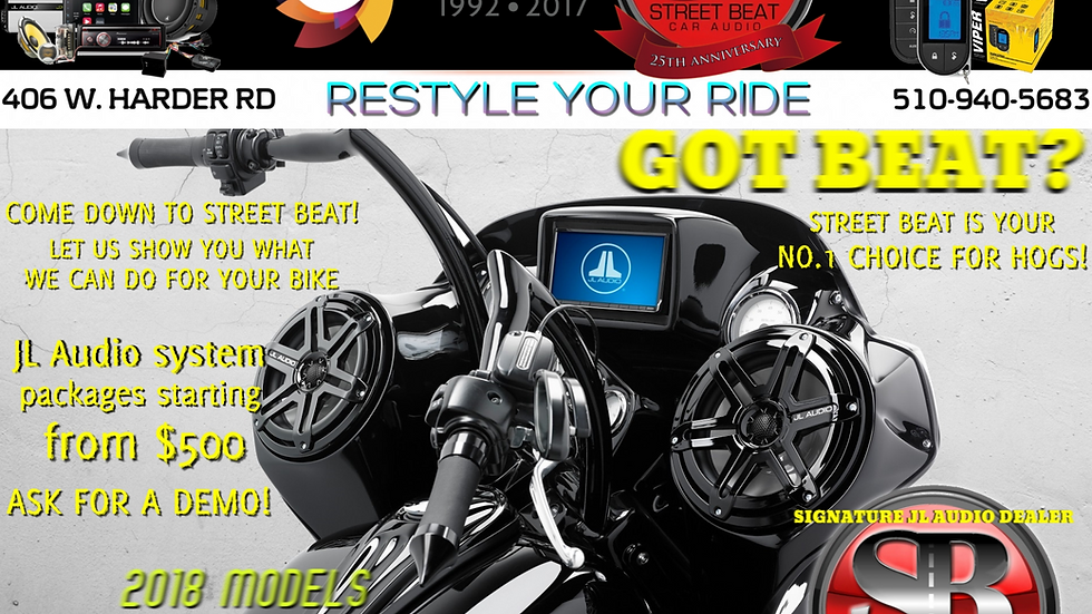 Harley Davidson speaker system with amp package