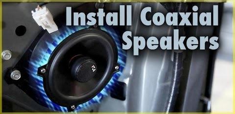 Coax speaker installation