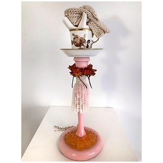 Lace , wood, crochet gloves, ceramic, porcelain, flowers