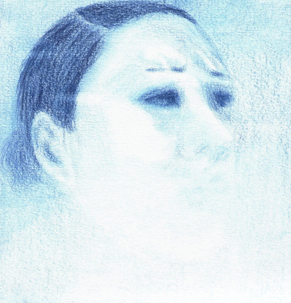Blue Self-Portrait Series (II) - Ache