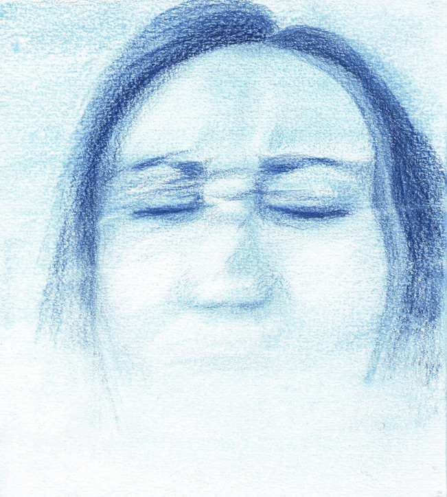 Blue Self-Portrait Series (II) - Stutter