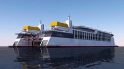 150m Starboard Quarter Approach