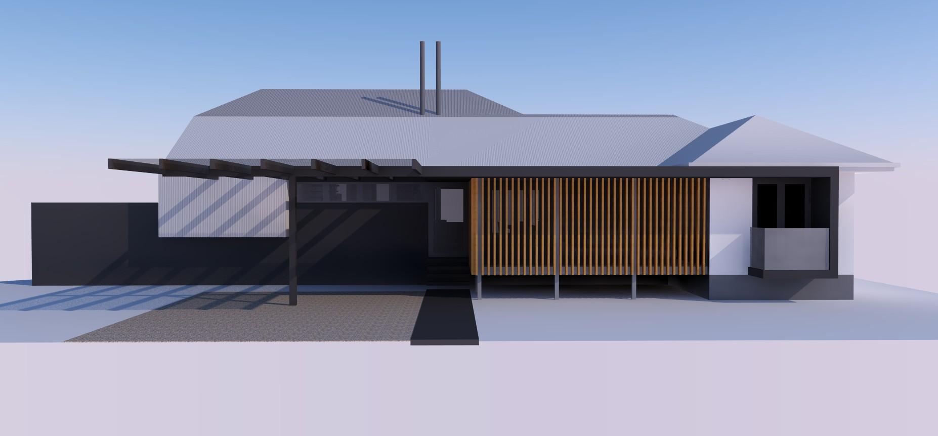 Residence Sandgate - East Elevation