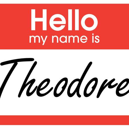Hi, I'm Theodore.
