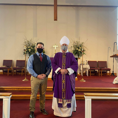 I was confirmed in the Episcopal Church today