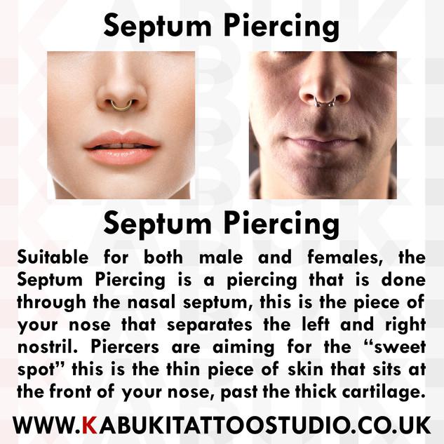 Septum Piercing Information