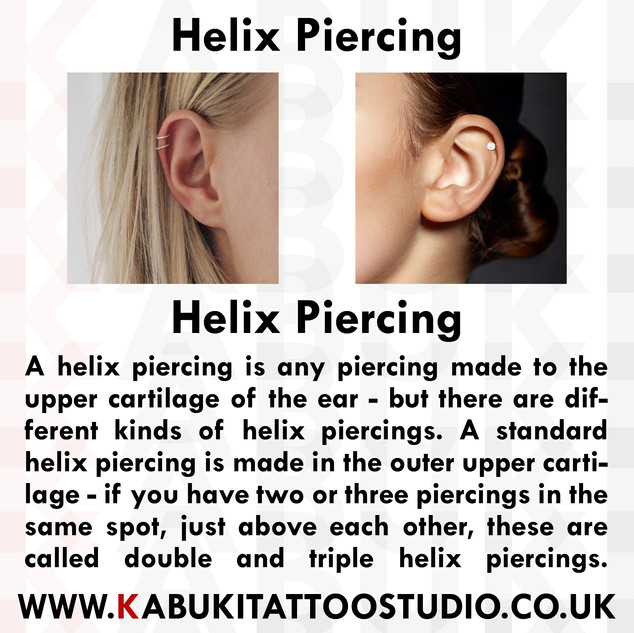 Helix Piercing Information