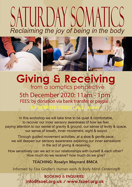 Saturday Somatics - Giving & Receiving 0