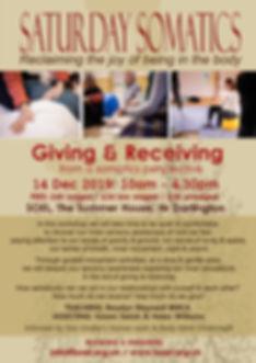 Saturday Somatics - Giving & Receiving 1