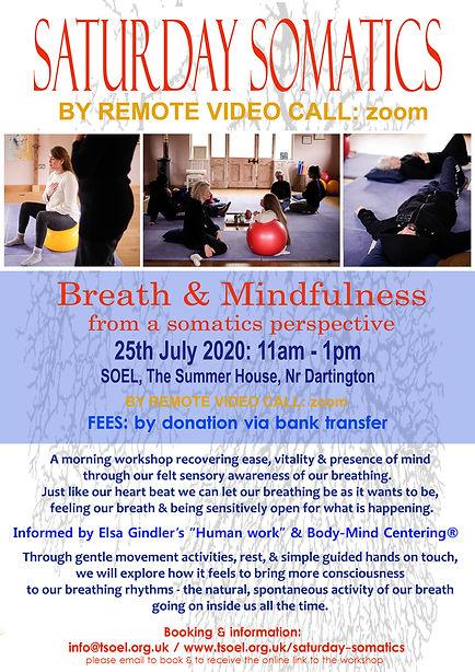 Saturday Somatics Virtually - Breath & M
