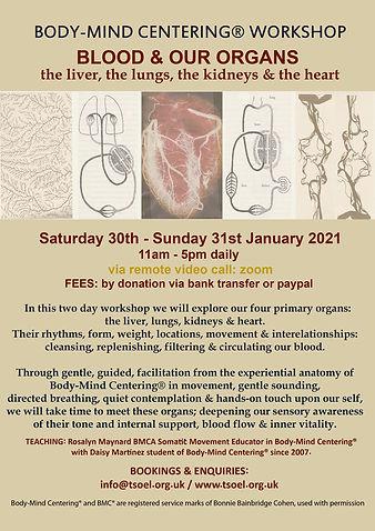 Body-Mind Centering Workshop - BLOOD & O