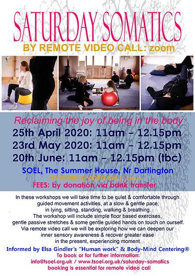 Saturday Somatics Virtually - Spring 202