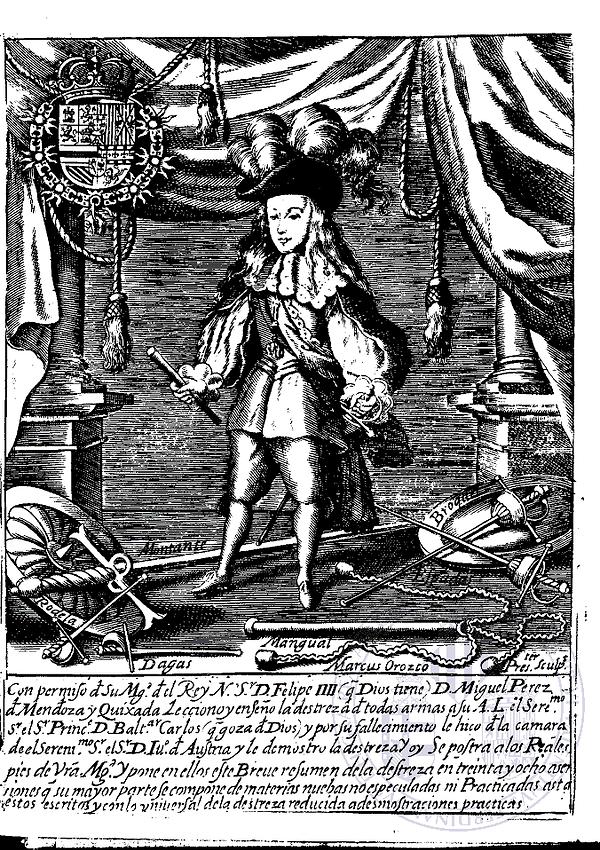 Perez de Mendoza, Resumen de la Verdadera Destreza de las Armas, 1675