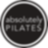 Absolutely Pilates Circle Logo Black and