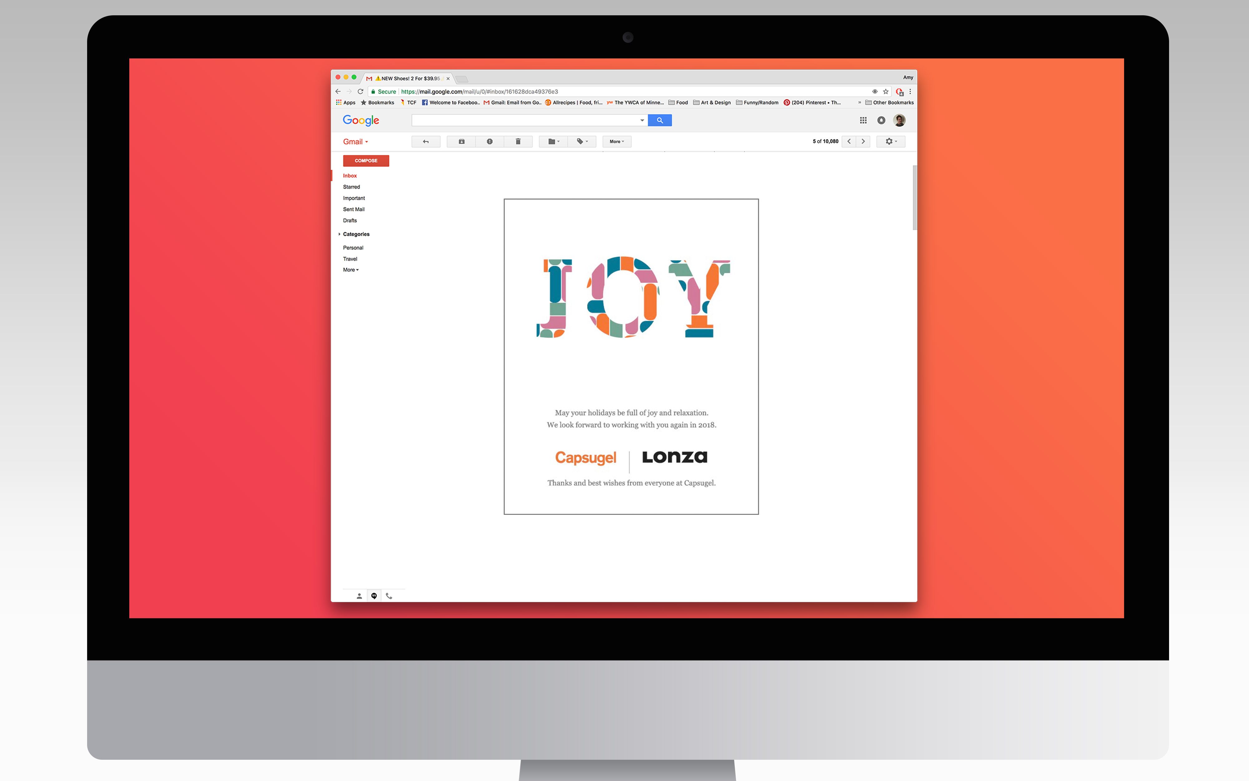 Capsugel holiday email