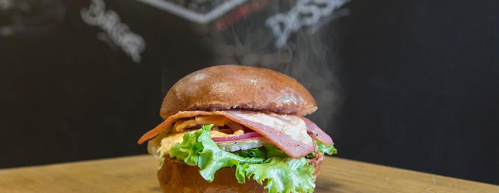 Burger bacon