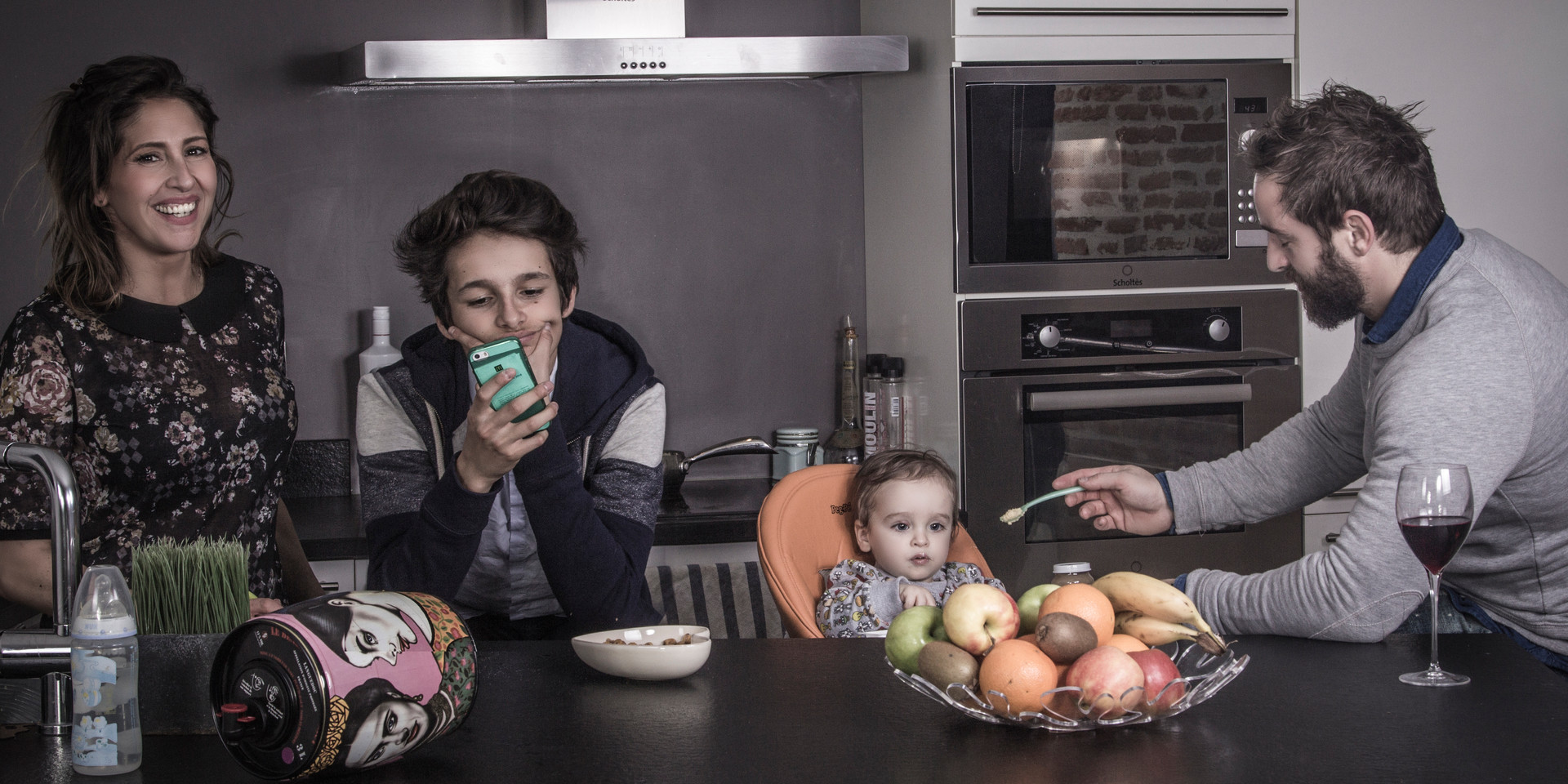 Famille à la maison