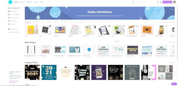 Tolle Designvorlagen im passenden Format erstellen mit Canva!