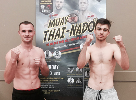 ALL WEIGHED IN AND GOOD TO GO Congrats - All Muay Thai-Nado #3 Fighters Made Weight Tonight!