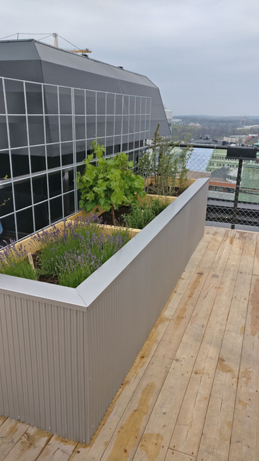 Rooftop area outdoor furniture
