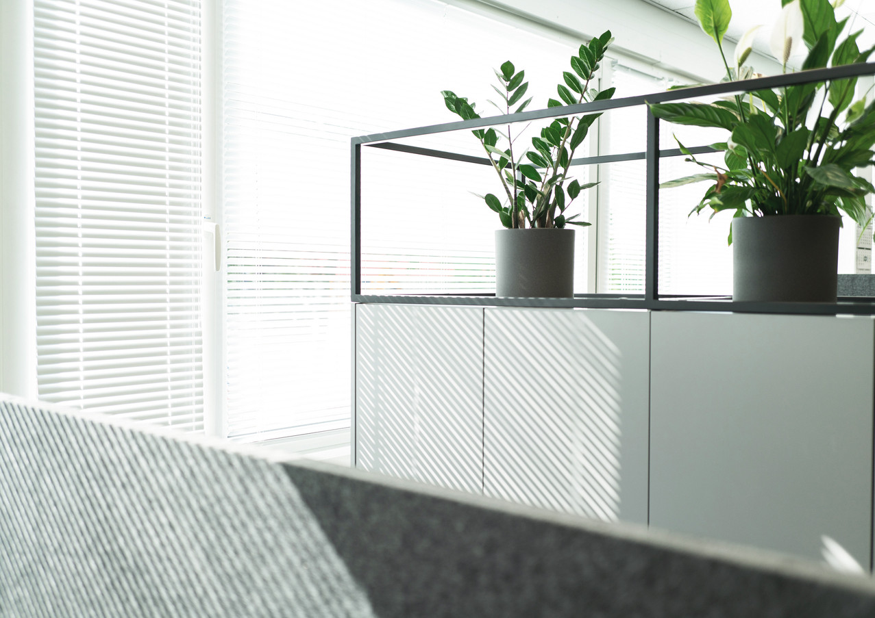 Cabinet with metal frame
