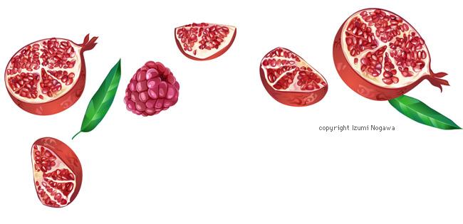 Pomergranate raspberry