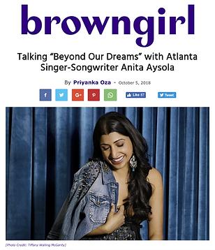 Anita Aysola Browngirl Magazine