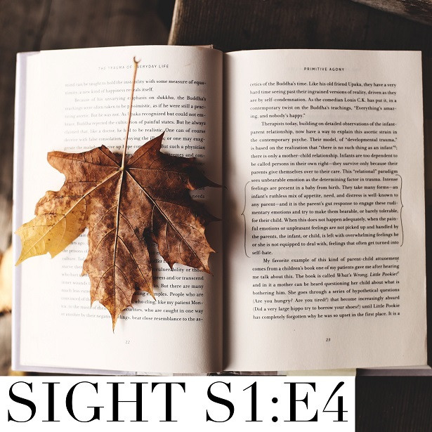Sight - S1:E4 Book with maple leaf