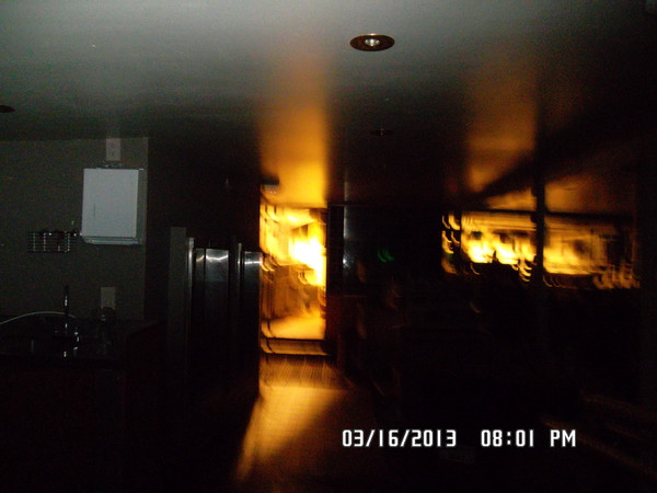Ghostly fire at the Sherman