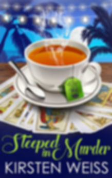 Steeped in Murder, a funny cozy mystery novel