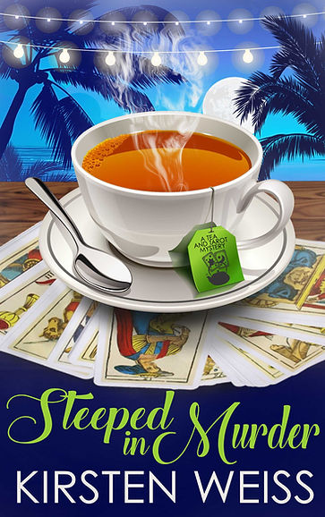Steeped in Murder, a funny cozy mystery in the Tea and Tarot series