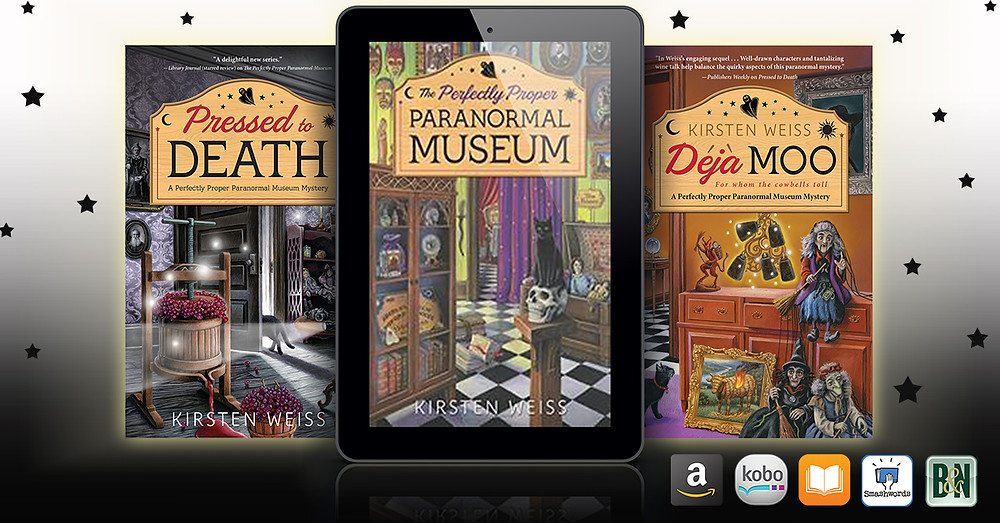 Book covers - Perfectly Proper Paranormal Museum series