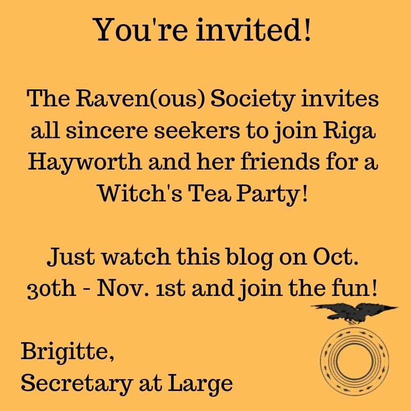 Ravenous invite - blog hop Oct 30 - Nov 1st