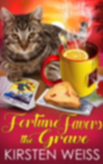 Fortune Favors the Grave, a funny cozy mystery in the Tea and Tarot series