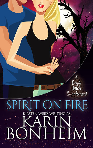 Spirit on Fire, a paranormal romance and mystery in the Witches of Doyle witch mystery books